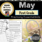 May Homework Packet: 1st Grade (May Day Fun)