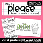 "Interactive Sight Word Reader ""May I Please Have Some Ice Cream?"""
