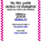 May Kindergarten Math Journal Prompts