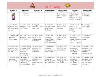 Freebie May Langauge Calendar