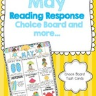 May Reading Response Choice Board