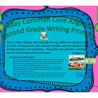 May Second Grade Writing Prompts and Journal Pages (Common