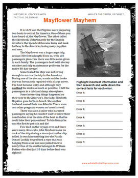Mayflower Mayhem Podcast Classroom Package - American History