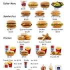 Mc D&#039;s Menu Money Math