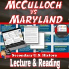 McCulloch v Maryland Lecture Power Point Presentation