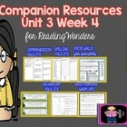 McGraw-Hill Wonders 3 Grade Supplemental MegaPack Unit 3 Week 4