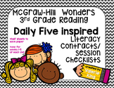McGraw Hill Wonders 3rd Grade Reading Center Contracts/Che