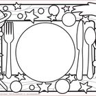 Meal Time Placemats (includes 40 Black and White Placemats)