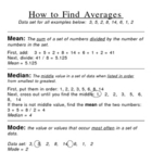 Mean, Median, Mode and Range Poster