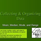 Mean, Median, Mode, Range: A week of vocab, notes, and activities