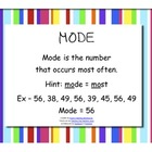Mean Median Mode Range Posters