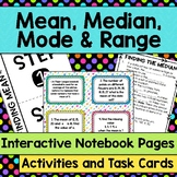 Mean, Median, Mode and Range Interactive Notebook Pages, A