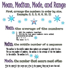 Mean, Median, Mode, and Range (Poster or Handout)