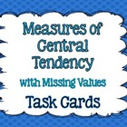 Mean, Median, Mode, and Range Task Cards {With Missing Values}