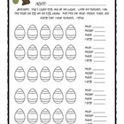Mean Median and Mode Easter Activity
