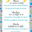Mean, Median, and Mode poster, bookmark, and booklet template