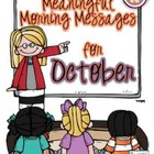 Meaningful Morning Messages for October (Kindergarten)