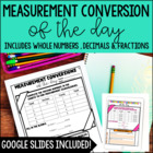 Measurement Conversion of the Day Common Core Aligned