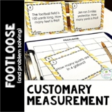 Measurement Conversions Footloose (Task Cards) and Problem