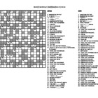 Measurement Crossword Puzzle, Grades 6 and Up