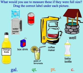 Measurement Estimation Gallon, Quarts, Pints, Cups Smartbo