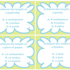 Measurement Estimation Task Cards for Length:  Common Core