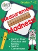 Measurement Madness (Metric Ruler and Conversions Reinforc