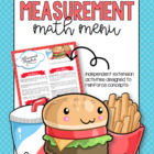Measurement Math Menu