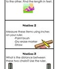 Measurement Olympics Task Cards and Student Worksheet