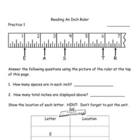 Measurement:  Reading a Standard Ruler