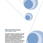 Measurement Review Game (I Have, Who Has) (Vocabulary & De