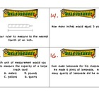 Measurement Unit Task Cards