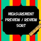 Measurement Units Sort Preview or Review Activity or Bulle