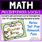Measurement and Data - Math Question Strips for 4th Grade