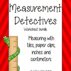 Measurement: inches and non-standard units! Worksheet pack!