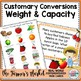 Measurement~Capacity and Weight Word Problems Task Cards F
