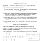 Measures of Central Tendency: When to use mean, median, or mode