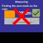 Measuring: Finding the Zero Mark on a Ruler