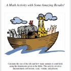 Measuring Noah's Ark