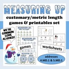 Measuring Up – customary & metric length game and resource