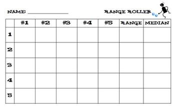 Median, Mode, and Range Flipchart with Activities