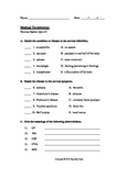 Medical Terminology Quiz #1: Nervous System