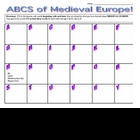 Medieval Europe ABCs - Worksheet