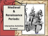 Medieval &  Renaissance Periods (Interactive Notebook, Les