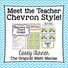 Meet the Teacher Chevron Style