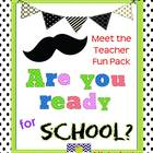 Meet the Teacher Mustache Bash Fun Pack
