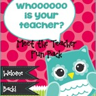 Meet the Teacher Night Fun Pack