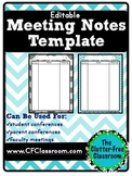Meeting Notes Organizer for a Teacher Organization Binder