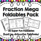 Mega Fractions Foldables 12 Pack for Interactive Math Notebooks