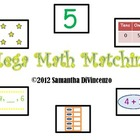 Mega Math Matching... Addition, Place Value, Ten Frames, a